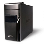 Системный блок Acer Aspire M5640, Intel Core 2 Duo E8400 3.00ГГц, DDR2 2Гб, HDD 250Гб, NVIDIA GeFoce 6800GS 512Мб, DVD-RW, Windows 7 HB, чёрный